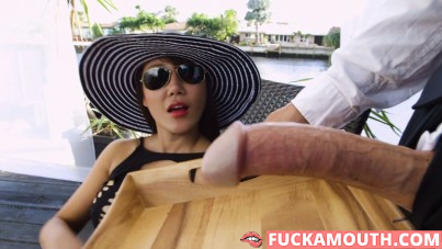 hard dick on the tray for the rich asian cougar